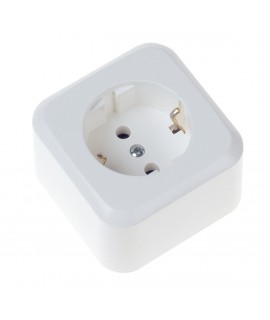 BACHMANN Base en superficie 1x schuko sin cable, blanco