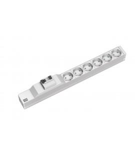 BACHMANN Regleta 19 1U con 6x schukos, cable 3G1,5mm 2m, con diferencial 16A