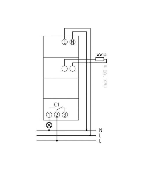 comprar theben interruptores crepusculares carril din luna 109 emp precio 89 60. Black Bedroom Furniture Sets. Home Design Ideas