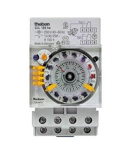 THEBEN Interruptores horarios analogicos 3 modulos carril DIN caballetes intercambiables SUL 188hw 156
