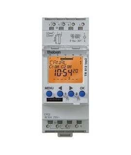 THEBEN Interruptores horarios digitales 2 modulos carril DIN TR 612 top2