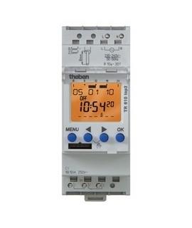 THEBEN Interruptores horarios digitales 2 modulos carril DIN TR 611 top2 24V
