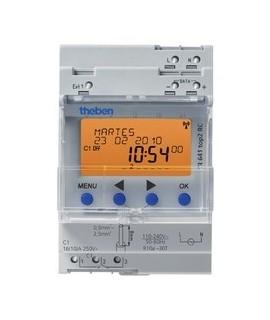 THEBEN Interruptores anuales digitales 4 modulos carril DIN TR 641 top2 RC 155