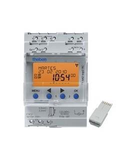 THEBEN Interruptores anuales digitales 4 modulos carril DIN TR 642 top2 RC 155