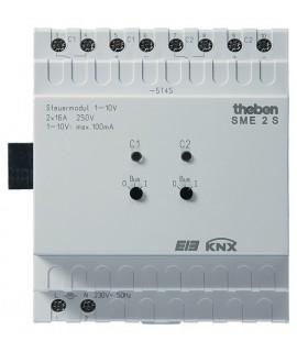 THEBEN Actuadores de luces fluorescentes regulables 1-10V SME 2 S KNX