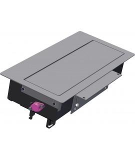 BACHMANN TOP FRAME Caja de montaje pequeña, con marco exterior, gris plateado