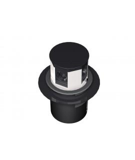 BACHMANN LIFT Torreta 2x schukos + 2x RJ45 Cat.6 + 1x VGA + 1x minijack estéreo, cable 3G1,5mm 3m, negra
