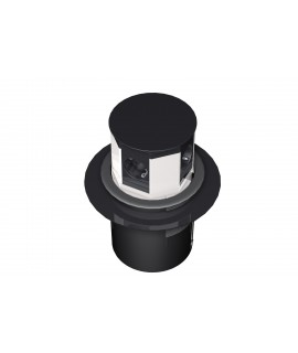 BACHMANN LIFT Torreta 4x schukos, cable 3G1,5mm 0,5m, plateada