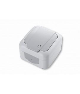 VIKO PALMIYE Toma de corriente 2P+T 16A 250V con tapa IP54 gris