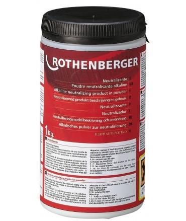 ROTHENBERGER Neutralizador en polvo 1 kg para ROCAL Acid Plus y ROCAL Acid Multi