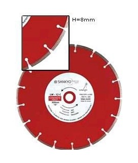 SANKYO Disco para hormigón reforzado diámetro 350 eje 25 mm
