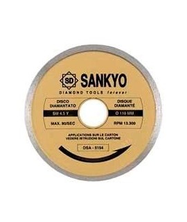 SANKYO Disco para ceramica y marmol, corte con agua diametro 300 eje 25 mm