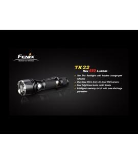 Linternas Fénix TK22 650 lumens Led XM-L U2 T6, 5 modos. Puede montar pulsador remoto
