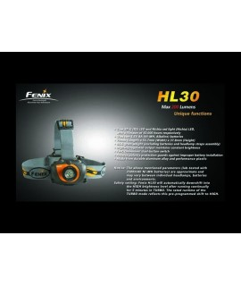 Linternas Fénix HL30 200 lúmenes Led Cree R5 XP-G LED, 6 modos. Color negra