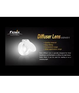 Linternas Fénix lente difusora blanca PD30, LD20, LD10, HP10, HL20, HL21, LD20, LD12