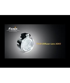 Linternas Fénix lente difusora blanca para HP20 y HP11