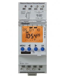THEBEN Interruptores horarios digitales 2 módulos carril DIN TR 610 top2 24 V