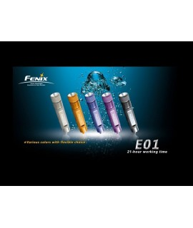 Linternas Fénix E01 13 lumens Led Nichia. Color lila