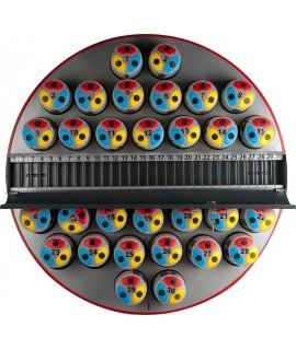 Gammaplast Visor Block Dayblock panel gris con blocks 1-30 magnético