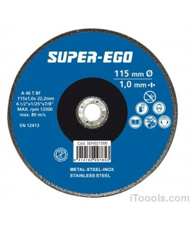 SUPER EGO Disco de corte metal 115x3x22.2 mm