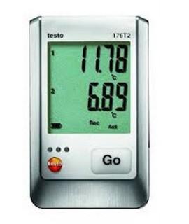 Testo Registrador de temperatura de 2 canales testo 176 T2