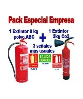 DirectExtintor Pack anti-incendios empresa 2 extintores + 3 señales
