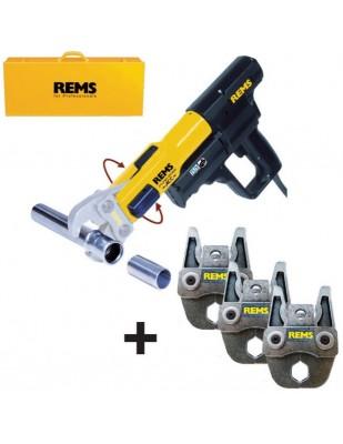 REMS Mini-Press ACC Li-Ion Basic con 3 Tenazas de prensar