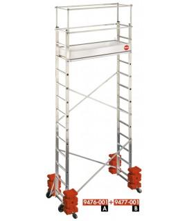 Andamio-escalera móvil - aluminio - ProfiStep® Multi Extension