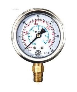 Manómetro con escala fi na, p ≤ 250 hPa/250 mbar/ 3,6 psi