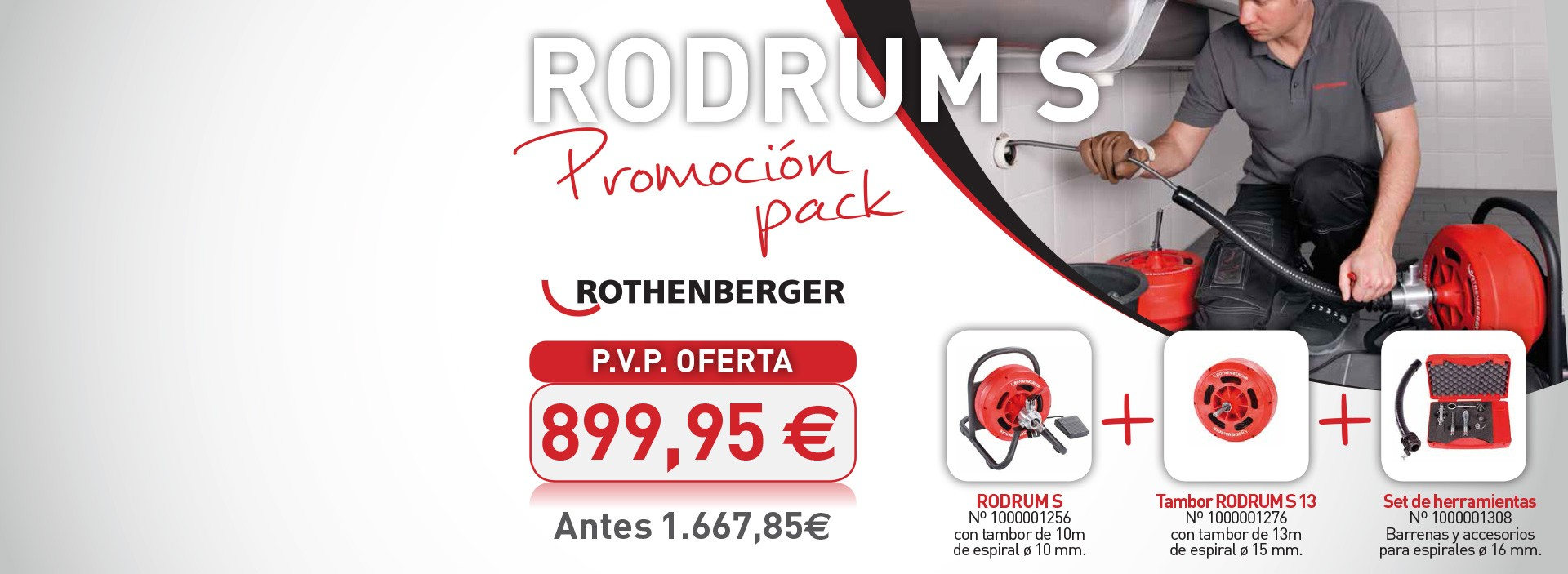 Pack desatascadora Rothenberger
