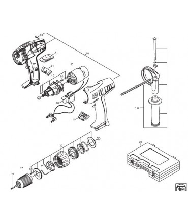 Fein CONJUNTO MOTOR- ELEC. ASM9-4