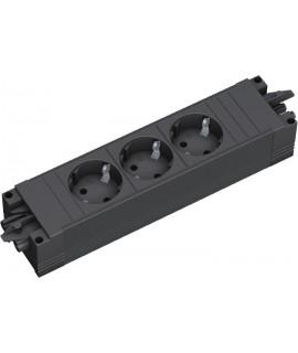 BACHMANN STEP BASE, Regleta 3x schukos, perfil plástico
