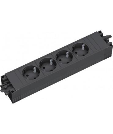 BACHMANN STEP BASE Regleta 4x schukos, perfil plástico