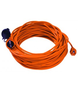 BACHMANN Cable prolongador schuko 3G1,5mm 25m  naranja
