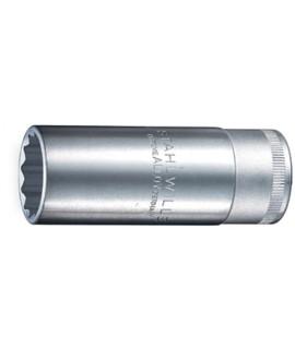 "STAHLWILLE Boca de llave de vaso 1/2""  serie larga 16 mm 5/8  con suplemento de goma para bujias"