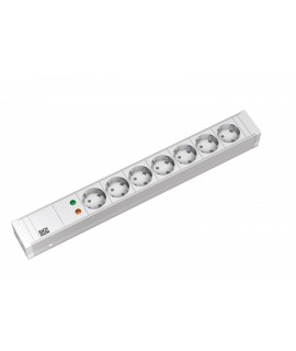 BACHMANN Regleta 19  1U con 7x schukos, cable 3G1,5mm 2m, con interruptor