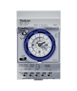 THEBEN Interruptores horarios analogicos 3 modulos carril DIN SUL 191 w 156