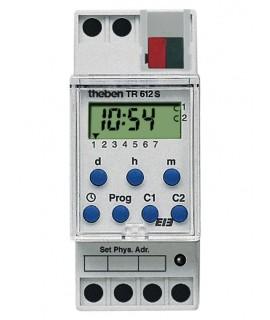 THEBEN Interruptores Horarios TR 612 S KNX 487 Interruptor horario semanal 2 canales