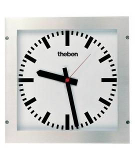 THEBEN Reloj de pared de empotrar de acero inoxidable OSIRIA 232 BQ-KNX 487