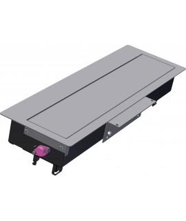 BACHMANN TOP FRAME Caja de montaje grande, con marco exterior, gris plateado