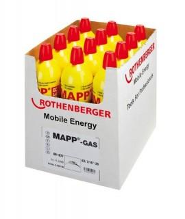 Botella 750 ml Gas MAPP para conexion EU Rothenberger