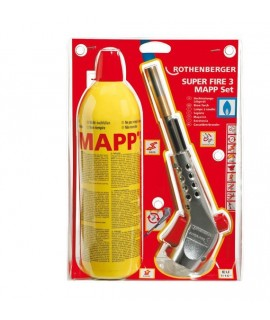 Rothenberger Soldador SUPER FIRE 3 EU + Mapp Gas