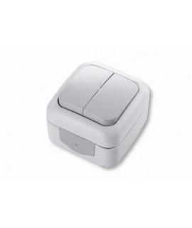 VIKO PALMIYE Interruptor doble 1P 10A 250V, IP54 gris