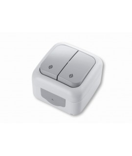 VIKO PALMIYE Conmutador doble 1P 10A 250V IP54 gris