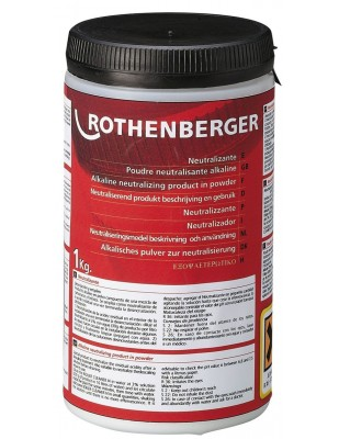 ROTHENBERGER Neutralizador en polvo 1 kg para ROCAL Acid Plus y ROCAL Acid Multi