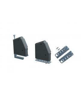 BACHMANN DESK Placa de montaje de plástico, 2 unidades, negro