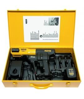 REMS Akku-Press ACC Li-Ion Basic-Pack + 3 REMS Tenazas de prensar M 15-18-22