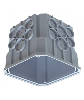 THEBEN Caja de empotrar en techo, 115x115x100 mm