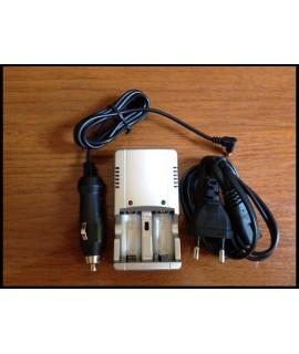 Linternas Fénix Cargador económico para 2 unidades RCR123A de 3V o 3.7V con cable para coche incluido