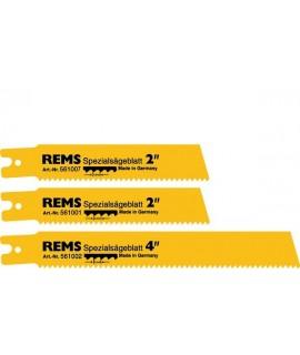 """REMS 5 hojas de sierra especial  2""""/2,5 para pared fina"""